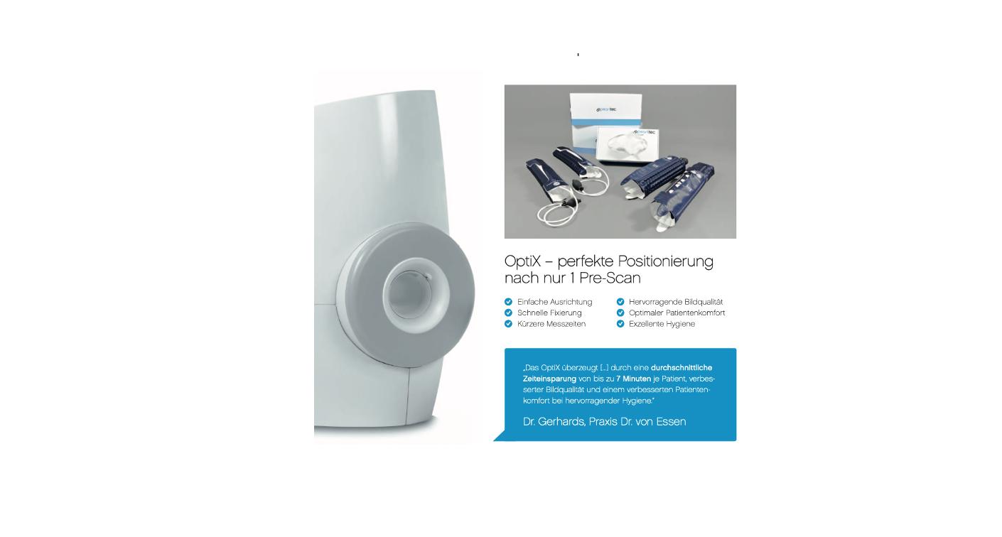 OptiX Lagerungshilfen für GE Extremitäten-MRT