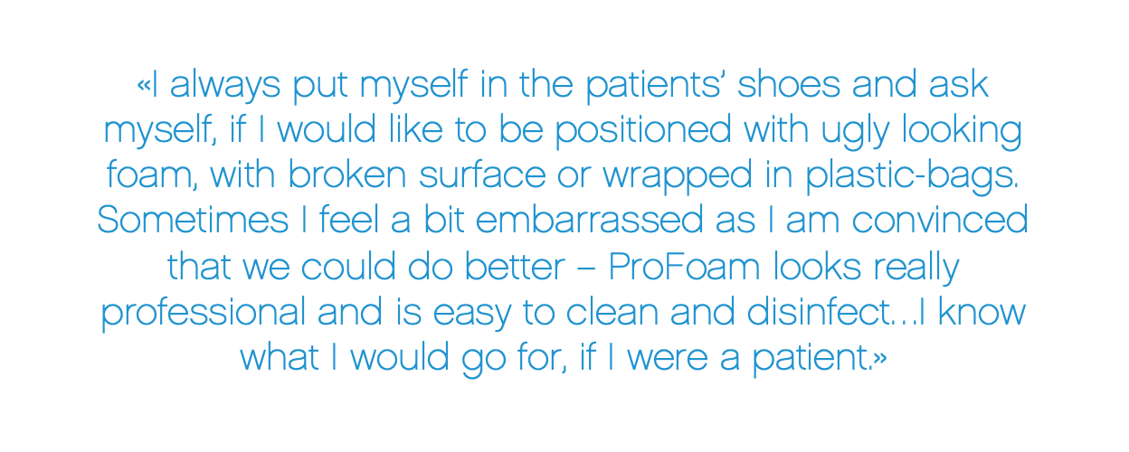 Positive customer feedback on ProFoam